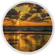 Jekyll Island Sunrise Round Beach Towel