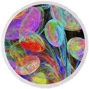 Jelly Beans And Balloons Abstract Round Beach Towel