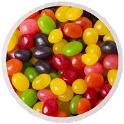 Jelly Beans Round Beach Towel