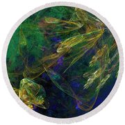 Jelly Fish  Diving The Reef Series 1 Round Beach Towel