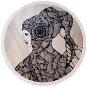 Jelly Queen Round Beach Towel