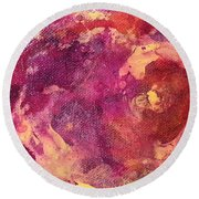 Jellyfish 2 Round Beach Towel