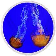 Jellyfish Art Round Beach Towel