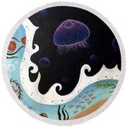Jellyfish Jam Round Beach Towel