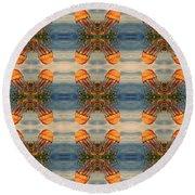 Jellyfish Pattern Round Beach Towel
