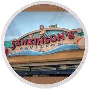 Jenkinson's Pavilion Round Beach Towel by Kristia Adams