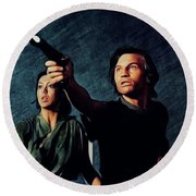 Jenny Agutter And Michael York, Logan's Run Round Beach Towel