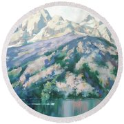 Jenny Lake Round Beach Towel