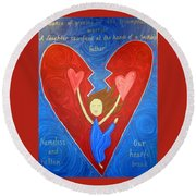 Jephthah's Daughter Round Beach Towel