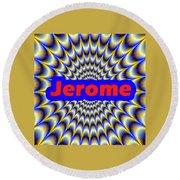 Jerome Round Beach Towel