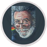 Jerry Garcia Round Beach Towel