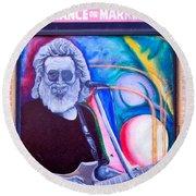 Jerry Garcia - San Francisco Round Beach Towel