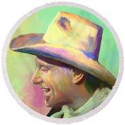 Jerry Jeff The Gypsy Songman Round Beach Towel