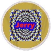 Jerry Round Beach Towel