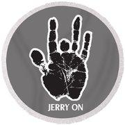 Jerry On Round Beach Towel
