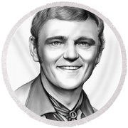 Jerry Reed Round Beach Towel