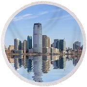 Jersey City Round Beach Towel