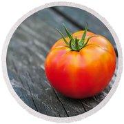 Jersey Fresh Garden Tomato Round Beach Towel