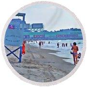 Jersey Shore - Atlantic City Round Beach Towel