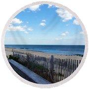 Jersey Shore Round Beach Towel
