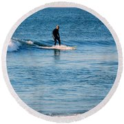 Jersey Shore Surfer Round Beach Towel
