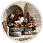 Jerusalem - Bread Seller Round Beach Towel