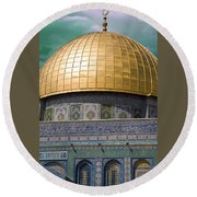 Jerusalem - Dome Of The Rock Round Beach Towel
