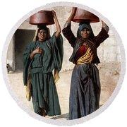 Jerusalem - Milk Seller Round Beach Towel