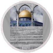 Jerusalem - The Dome Round Beach Towel