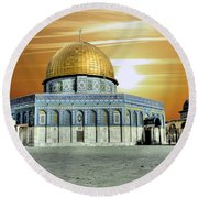 Jerusalem - The Light Round Beach Towel
