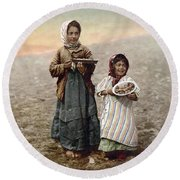 Jerusalem Girls, C1900 Round Beach Towel