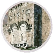 Jerusalem Golden Gate  Round Beach Towel