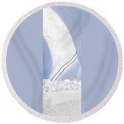 Jerusalem- Tryptich Part  3 Round Beach Towel