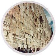 Jerusalem  Wailing Wall - To License For Professional Use Visit Granger.com Round Beach Towel