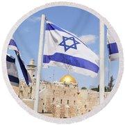 Jerusalem Wailing Wall Round Beach Towel