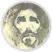 Jesus - 6 Round Beach Towel