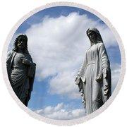 Jesus And Mary Round Beach Towel