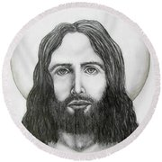Jesus Christ Round Beach Towel