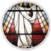 Jesus Is Our Savior Round Beach Towel