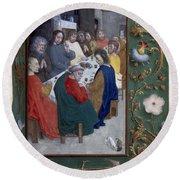 Jesus: Last Supper Round Beach Towel