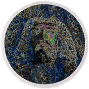 Jesus Of Nazareth Round Beach Towel