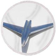 Jet Car Hood Ornament Round Beach Towel