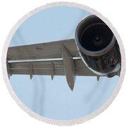 Jet Engine Detail Round Beach Towel
