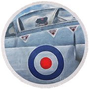 Jet Fighter By John Springfield Round Beach Towel