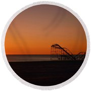 Jet Star Rollercoaster Sunrise Round Beach Towel