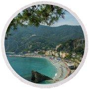 Jewel Of The Mediterranean Round Beach Towel
