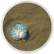 Jewel On The Beach Round Beach Towel