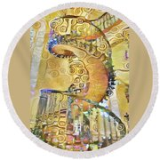 Jewel Staircase Round Beach Towel