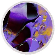 Jeweled Amethyst Round Beach Towel