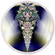 Jeweled Icicle Fractal 136 Round Beach Towel